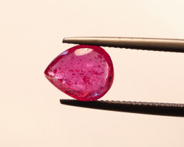 **No Reserve** 3.31ct. Pear Cabochon Ruby