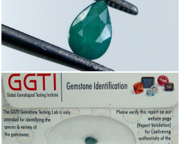 GGTI-Certified 0.45 ct Green Grandidierite Gemstone Natural