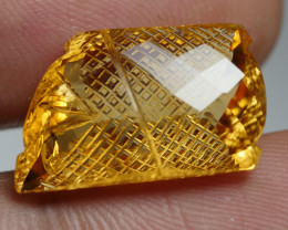 13.5CRT BAEUTIFULL YELLOW CITRINE CARVING