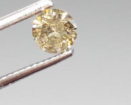 0.66ct Fancy Greenish Brown  Diamond , 100% Natural Untreated