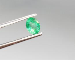 0.76cts  Zambian Emerald , 100% Natural Gemstone