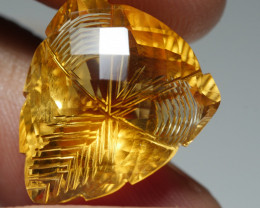 18.565CRT BEAUTY YELLOW CITRINE CHAKER BOARD CRAFT -