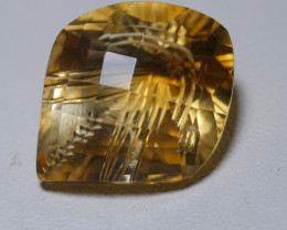 9.690CRT BEAUTY CITRINE CUT CHECKERBOARD -