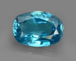 3.15 CTS~EXCEPTIONAL NATURAL BLUE COLOR ZIRCON CAMBODIA!!