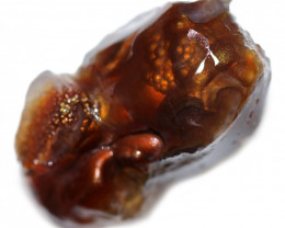 63.20 CTS FIRE AGATE ROUGH FROM MEXICO[F8559]
