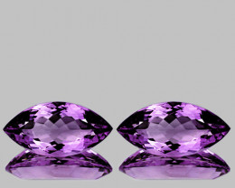 12x6 mm Marquise 2 pcs  Pinkish Purple Amethyst [VVS]