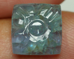 3.840 CRT BEAUTY CARVING AQUAMARINE-