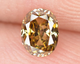 0.21 Cts Untreated Natural Fancy Deep Brown Color Loose Diamond
