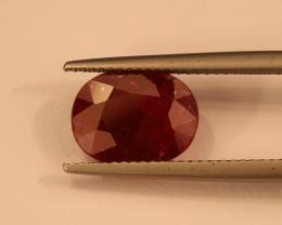 **No Reserve** 4.8ct Oval-Cut Ruby