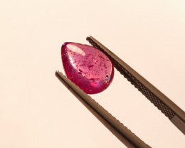 **No Reserve** 3.3ct. Pear Cabochon Ruby