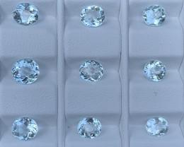 9.73 Carats Aquamarine Gemstones Parcels