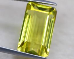 11.73ct Natural Lemon Quartz Octagon Cut Lot V6473
