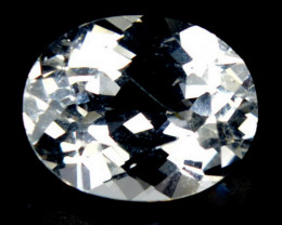Unheated!!  3.25 Cts Natural White Topaz 10x8mm Oval Brazil