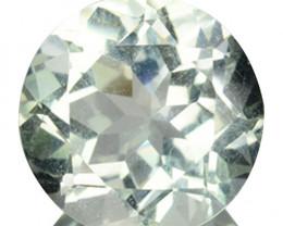 2.52 Cts Natural Green Prasiolite / Amethyst 9mm Round Cut Brazil