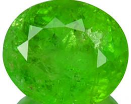 Radium Green!!! 0.97 Cts Natural Grossular Garnet Oval Cut Russia