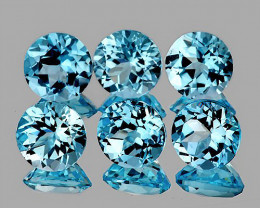 5.00 mm Round 6 pcs 3.73cts Sky Blue Topaz [VVS]