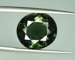 9.45 cts Dark Green Tourmaline Round Shape T1