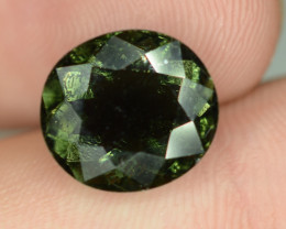 9.45 cts Dark Green Tourmaline Round Shape T1