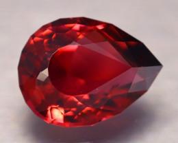 AAA Grade 5.43Ct VVS Master Cutting Pear Cut Red Tourmaline AN239
