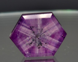 Natural Rare Trapiche Sapphire 7.04 Cts from Kashmir, Pakistan