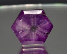 Natural Rare Trapiche Sapphire 7.24 Cts from Kashmir, Pakistan