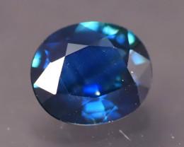 Blue Sapphire 1.10Ct Natural Madagascar Vivid Blue Sapphire A2419