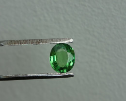 0.74ct VS-SI Green Tsavorite Cert.