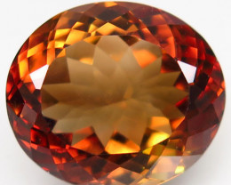 16.25  ct. 100% Natural Topaz Orangey Brown Brazil