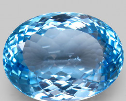 36.24 ct. 100% Natural Swiss Blue Topaz Top Quality Gemstone Brazil