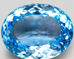 38.73  ct. 100% Natural Swiss Blue Topaz Top Quality Gemstone Brazil
