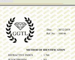 Rhodolite garnet 11.89 carats.