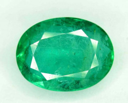 2.15 cts Oval Cut Superb Top Quality Green Color Zambia Emerald Gemstone