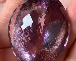 372.0Octs Rare size  AMETHYST gem Pink Purple VVS C192P ASTOUNDING