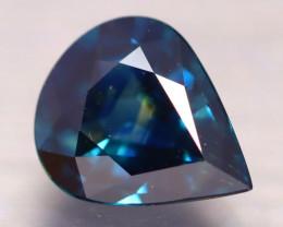 Certified Peacock Sapphire 1.84Ct VVS Australian Greenish Blue Sapphire