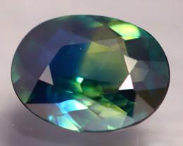 Certified TriColor Sapphire 1.93Ct VVS Australian 3 Color Tone Sapphire
