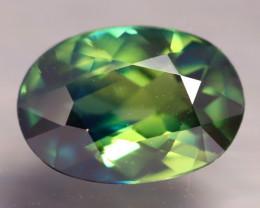 Certified TriColor Sapphire 1.46Ct VVS Australian 3 Color Tone Sapphire