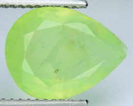 ~STUNNING~ 4.45 Cts Natural Green Prehenite Pear Cut Guinea