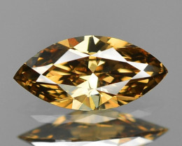 0.19 Cts Untreated Natural Fancy Vivid Brown Color Loose Diamond