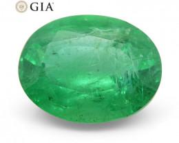 2.81 ct Oval Emerald GIA Certified Zambian