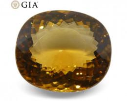 13.46 ct Cushion Golden Beryl/Heliodor GIA Certified