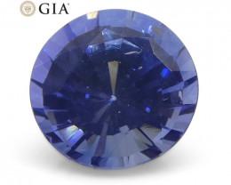 0.99 ct Round Sapphire GIA Certified Sri Lankan
