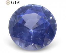 0.98 ct Round Violetish Blue Sapphire GIA Certified Burma (Myanmar) Unheate