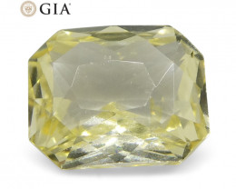 1.25 ct Octagonal Yellow Sapphire GIA Certified Sri Lankan Unheated