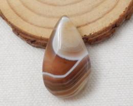 32.55ct Natural Agate Gemstone Teardrop Bead F513