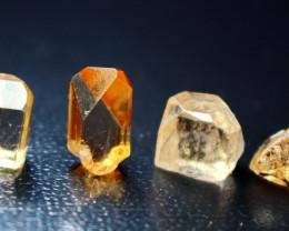 23.90 CT Natural & Unheated Orange Brown Topaz Facet Rough Lot