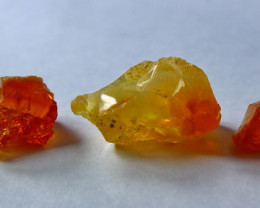 20.90 Cts Unheated ~ Natural Orange Opal Rough  Lot