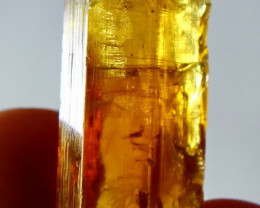 38.00 Cts Natural  Beautiful  Yellow Heliodor Crystal