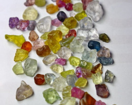 50.80 Cts Natural - Unheated Multi Color Sapphire Rough Lot