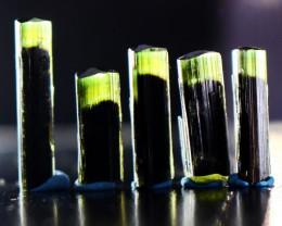 39.20 CT Natural  Beautiful Green Cap Tourmaline Crystal Lot