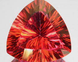 18.55 Cts Orange Pink Natural Topaz  Trillion Concave Cut Brazil
